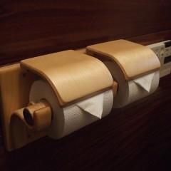 木製トイレットペーパーホルダー